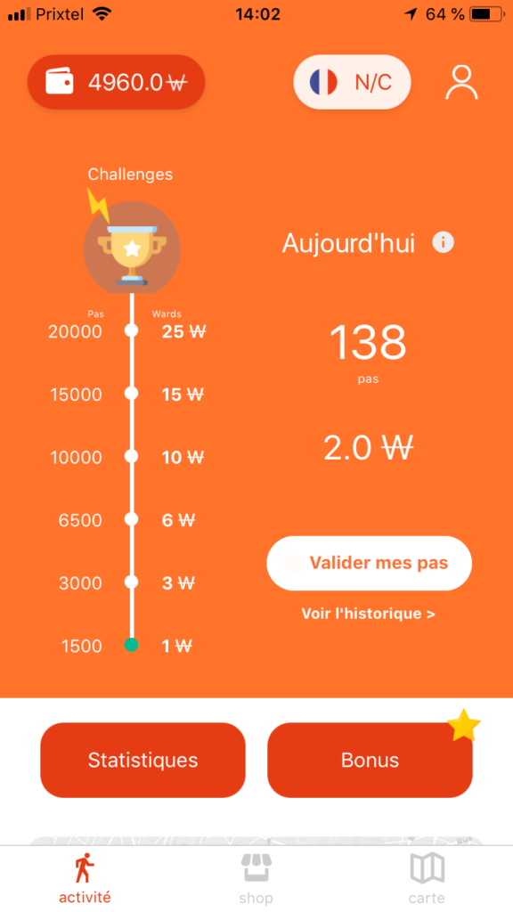 Weward l'application mobile qui paye pour marcher