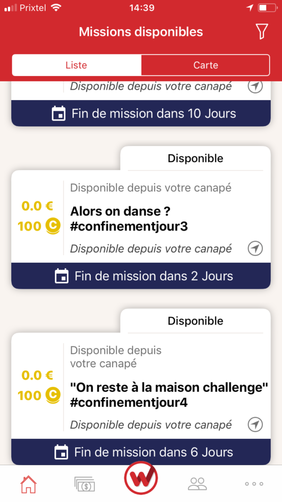 clic and walk application mobile pour gagner de l'argent