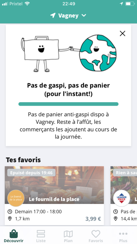 toogoodtogo application mobile paniers courses pas cher
