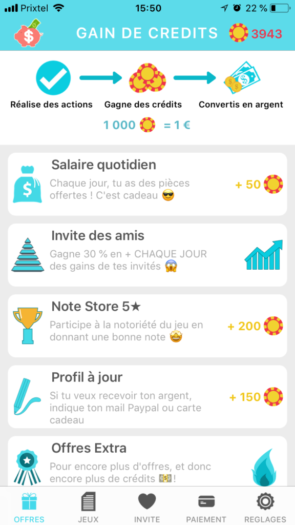 lucky cash application smartphone missions argent