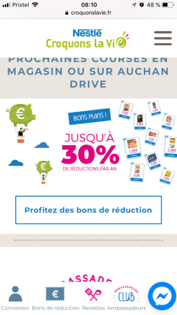 croquonslavie réductions réduction coupons courses site