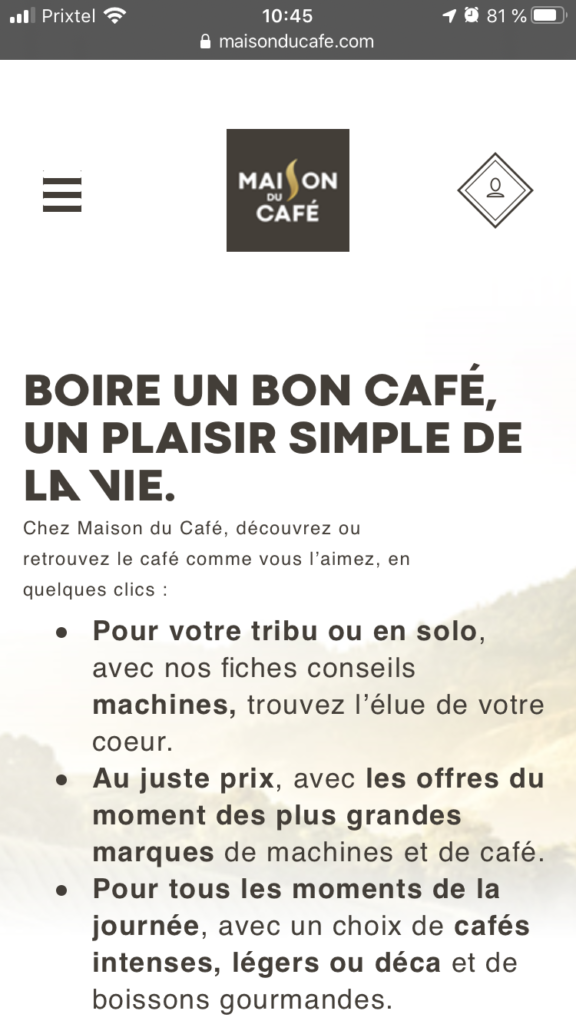 maison du cafe promo et reduction